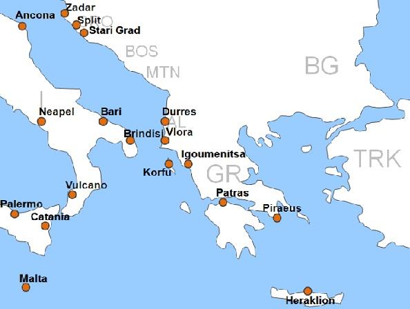 karte fährverbindungen italien griechenland Griechenland Fähre online buchen   Griechenland Fähre übersetzen