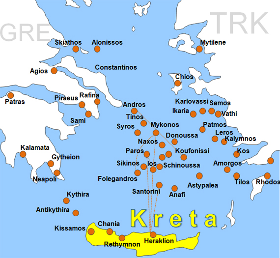 Map Of Kos Island Greece